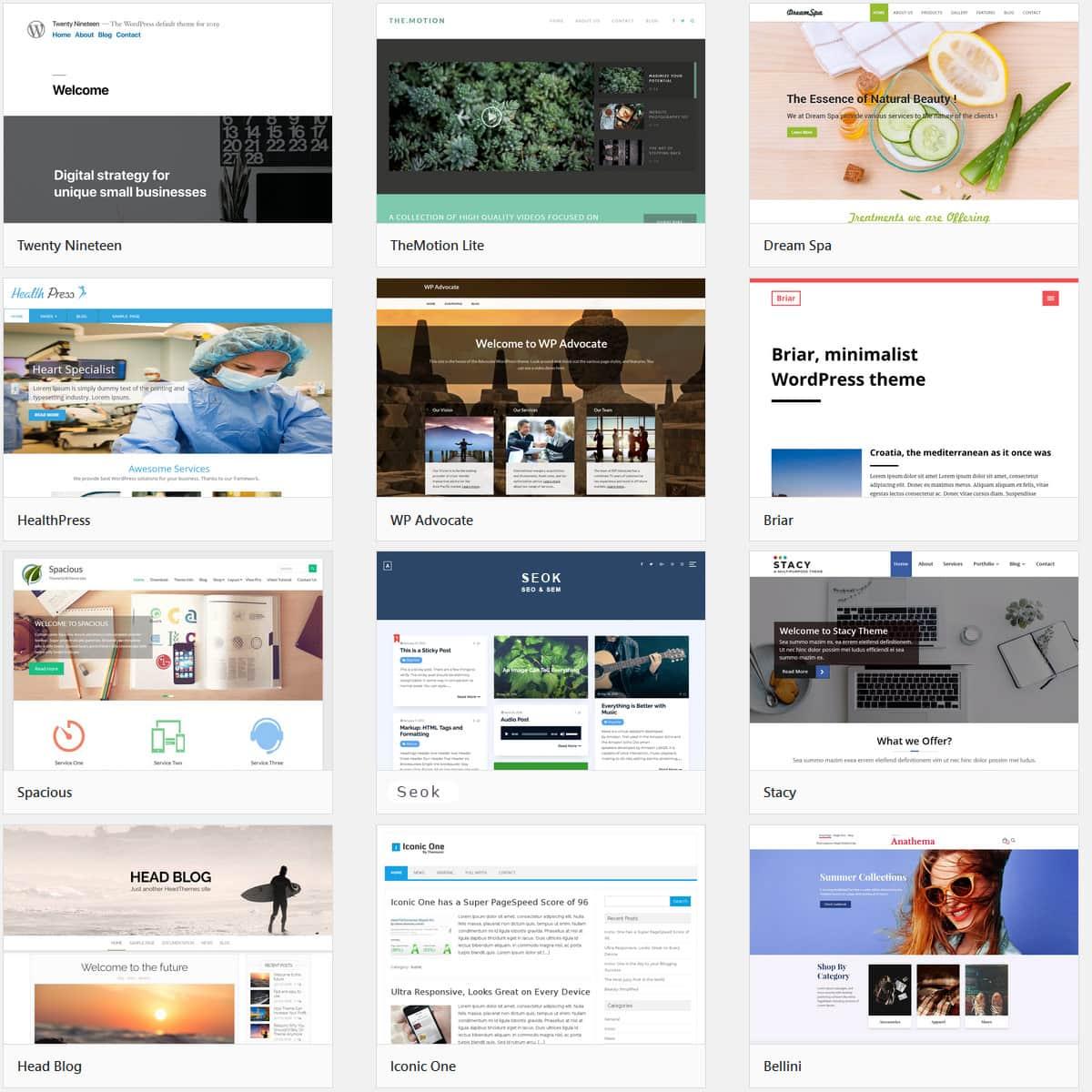 I migliori temi WordPress 2019